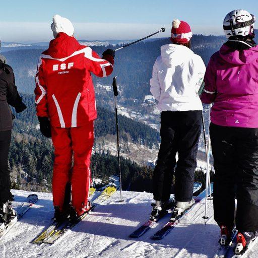 École du Ski de Ventron leçon partagée
