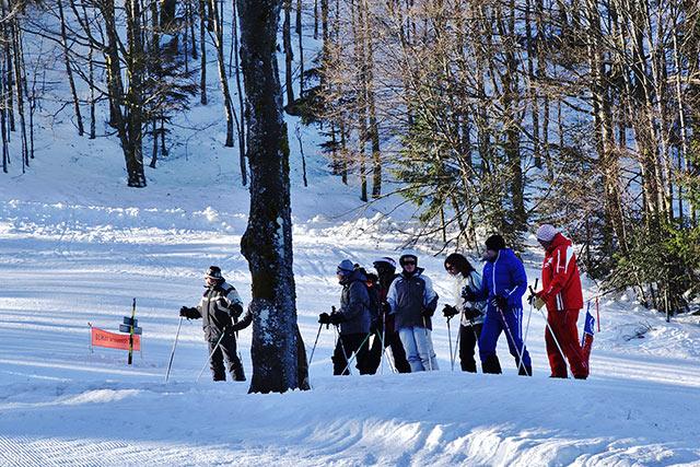 cours collectif 1er ski esf Ventron