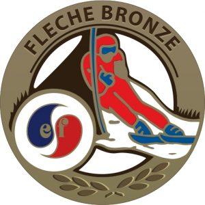 Médaille flèche de bronze esf de Ventron