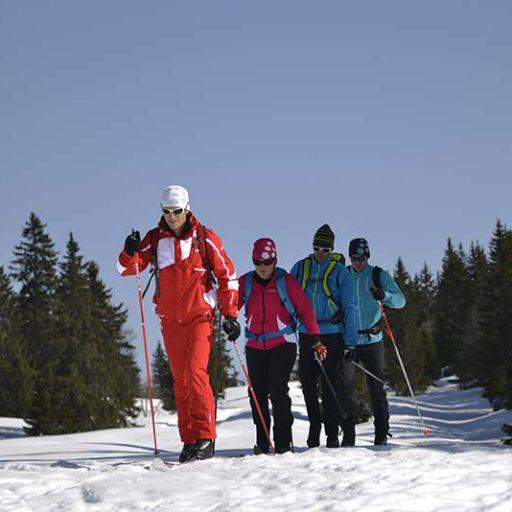 ski nordic avec l'esf Ventron