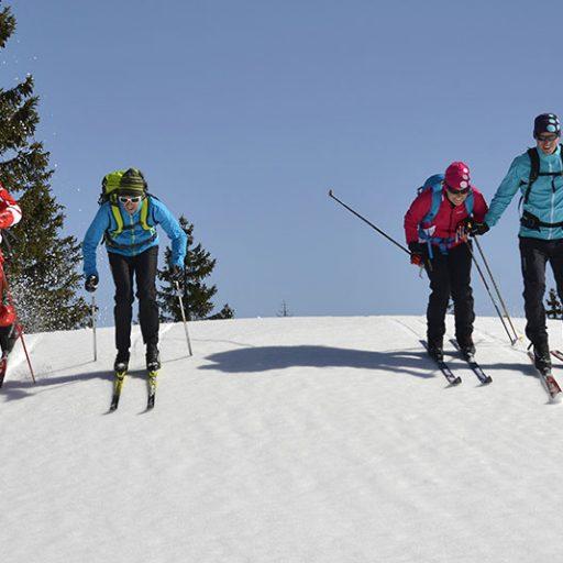 ski nordic en groupe avec l'esf Ventron