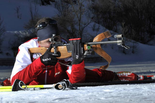 cours d'initiation au biathlon