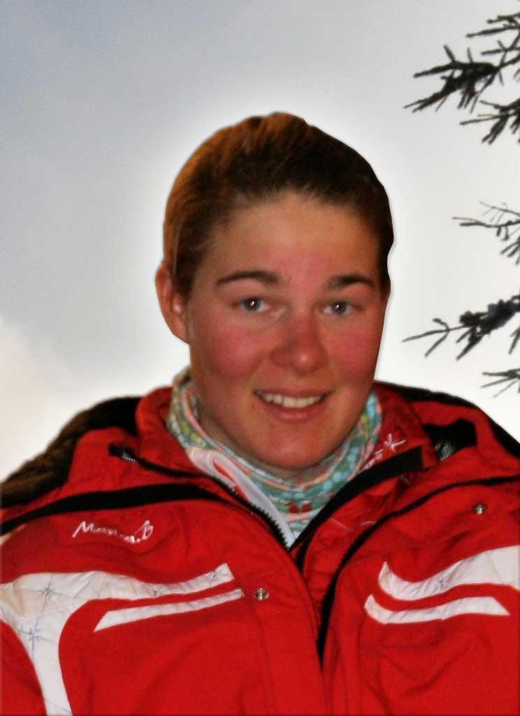 Marion monitrice à l'école de ski de Ventron