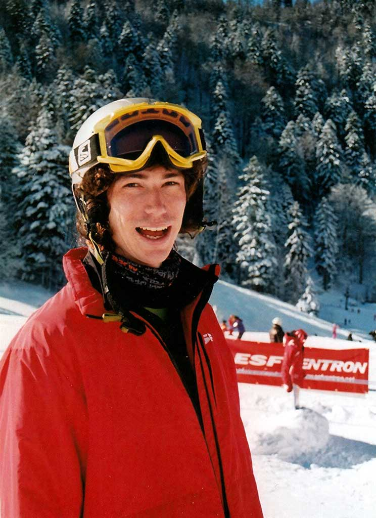 Mathieu moniteur à l'école du ski français de Ventron