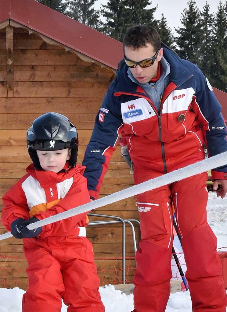 Xavier moniteur à l'école de ski de Ventron