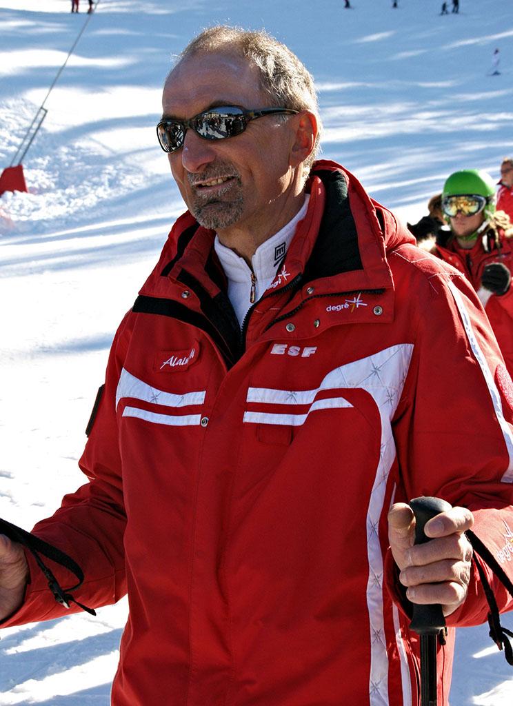 Alain moniteur à l'école du ski français de Ventron