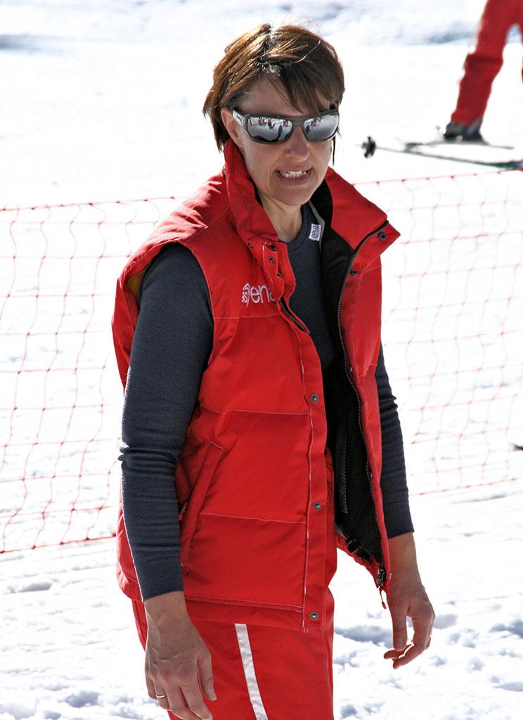 Natacha monitrice à l'école du ski français de Ventron