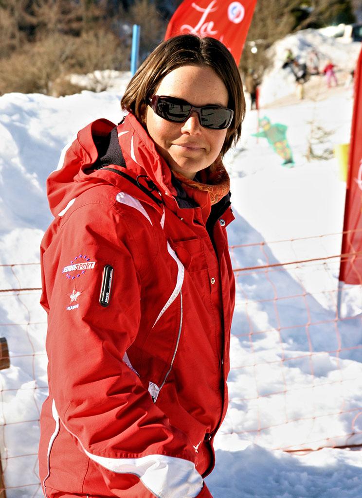 Élodie monitrice à l'école du ski français de Ventron