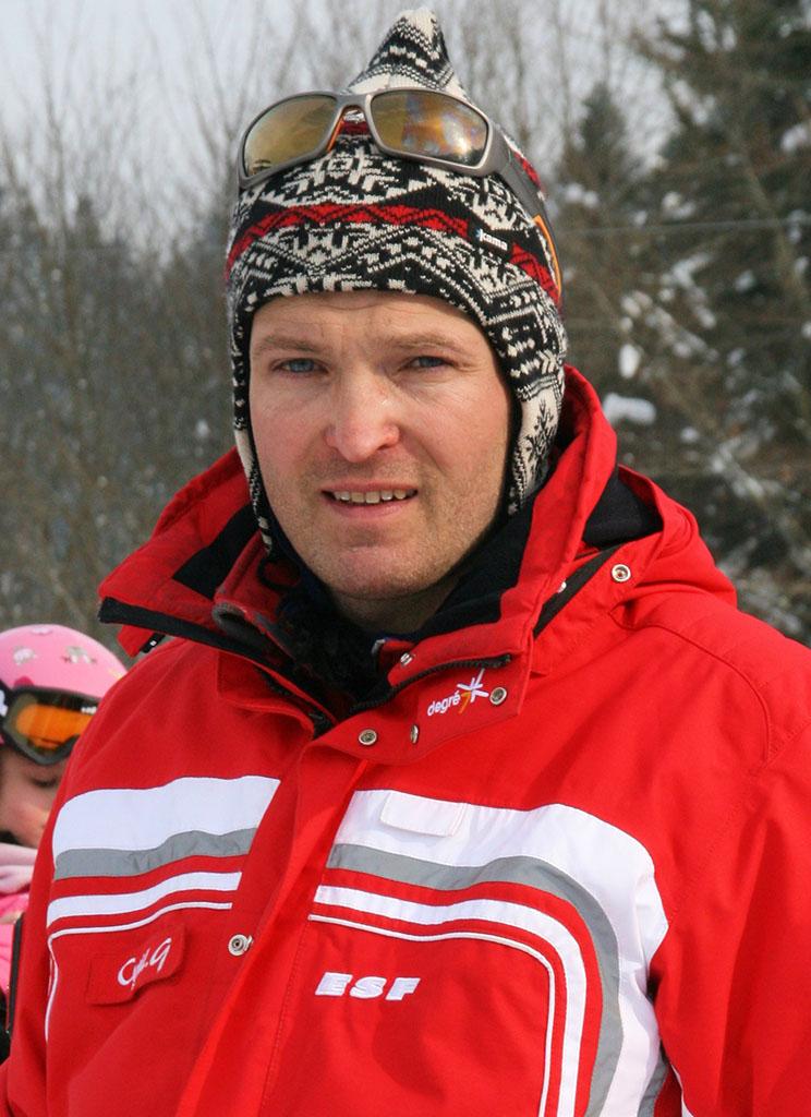 Cyril moniteur à l'école du ski français de Ventron