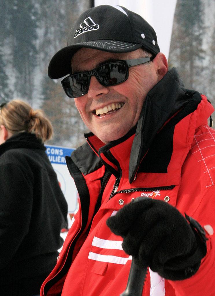 Christophe moniteur à l'école du ski français de Ventron