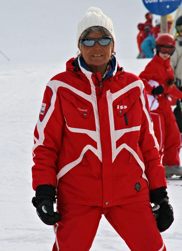 Chantal monitrice à l'école du ski français de Ventron