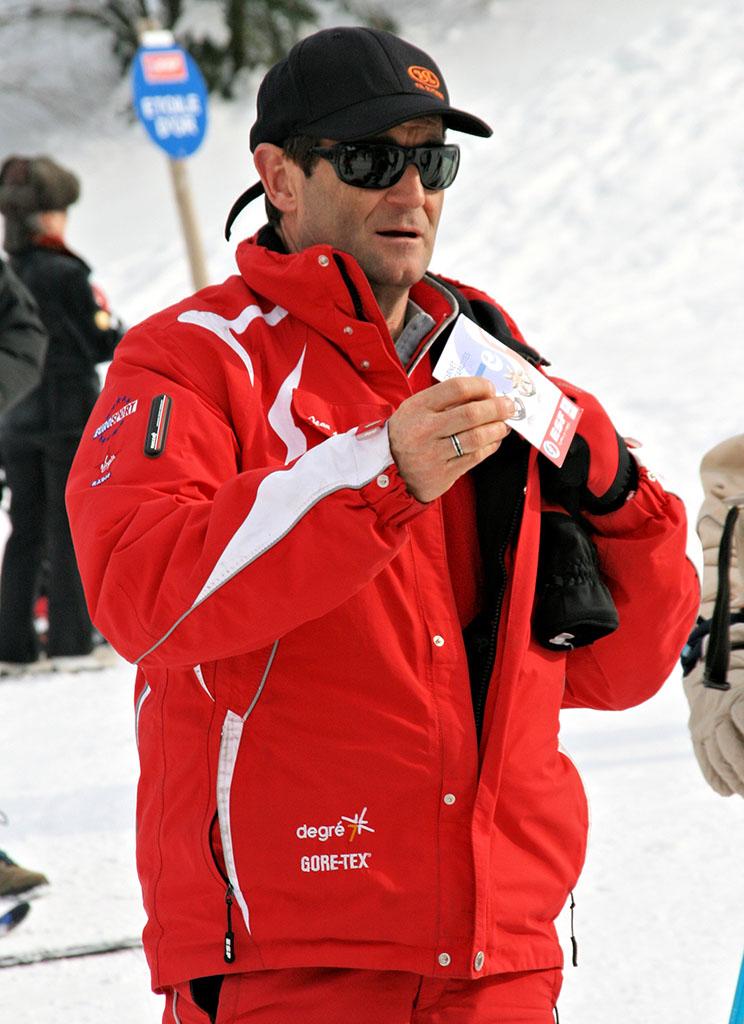 Jean-Michel moniteur à l'école du ski français de Ventron
